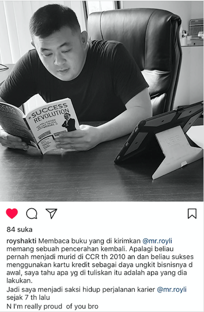 Testimoni Buku Sukses Roy Li